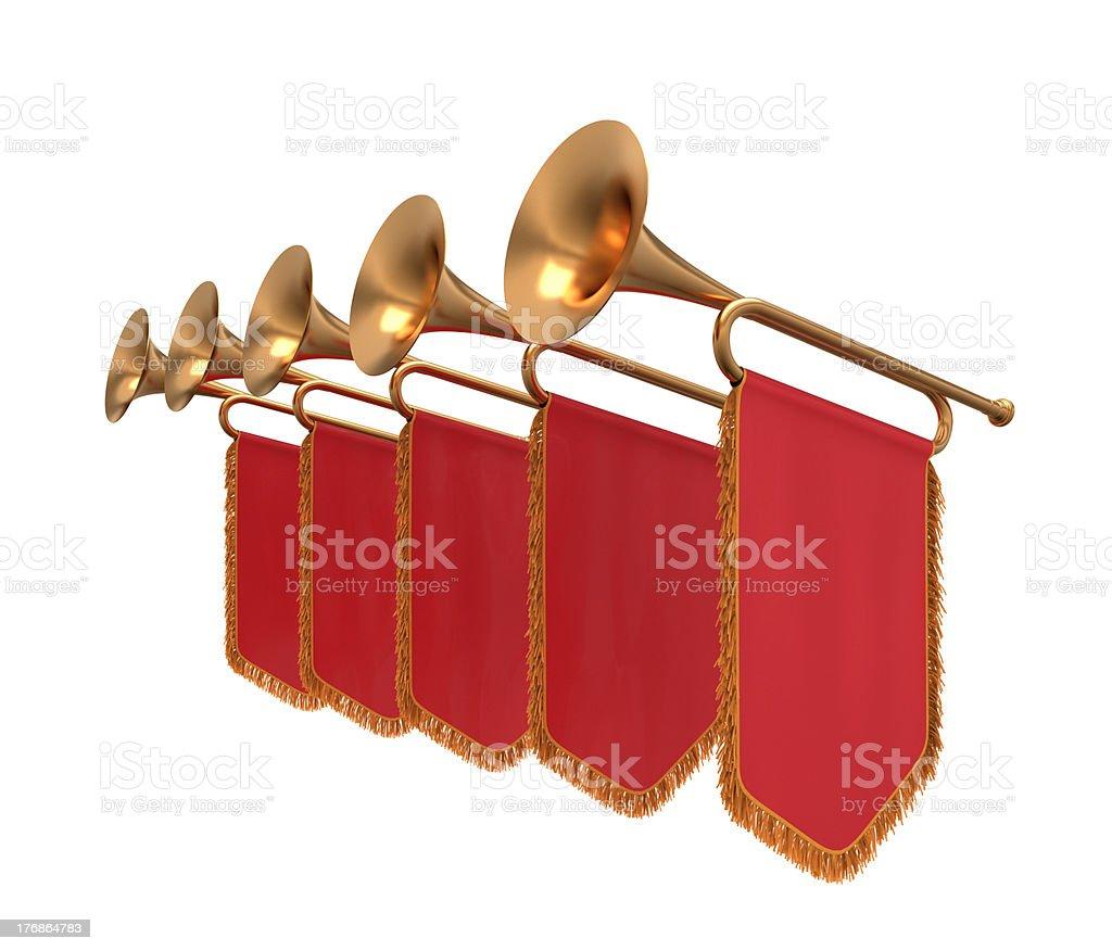 Trumpet. stock photo