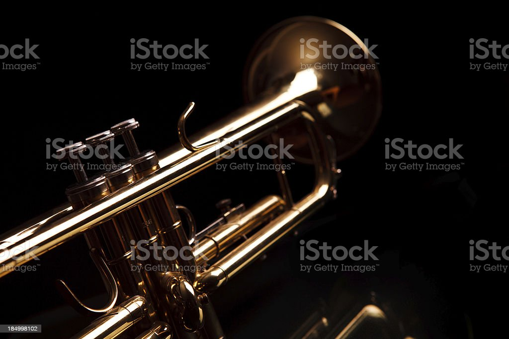 Trumpet stock photo