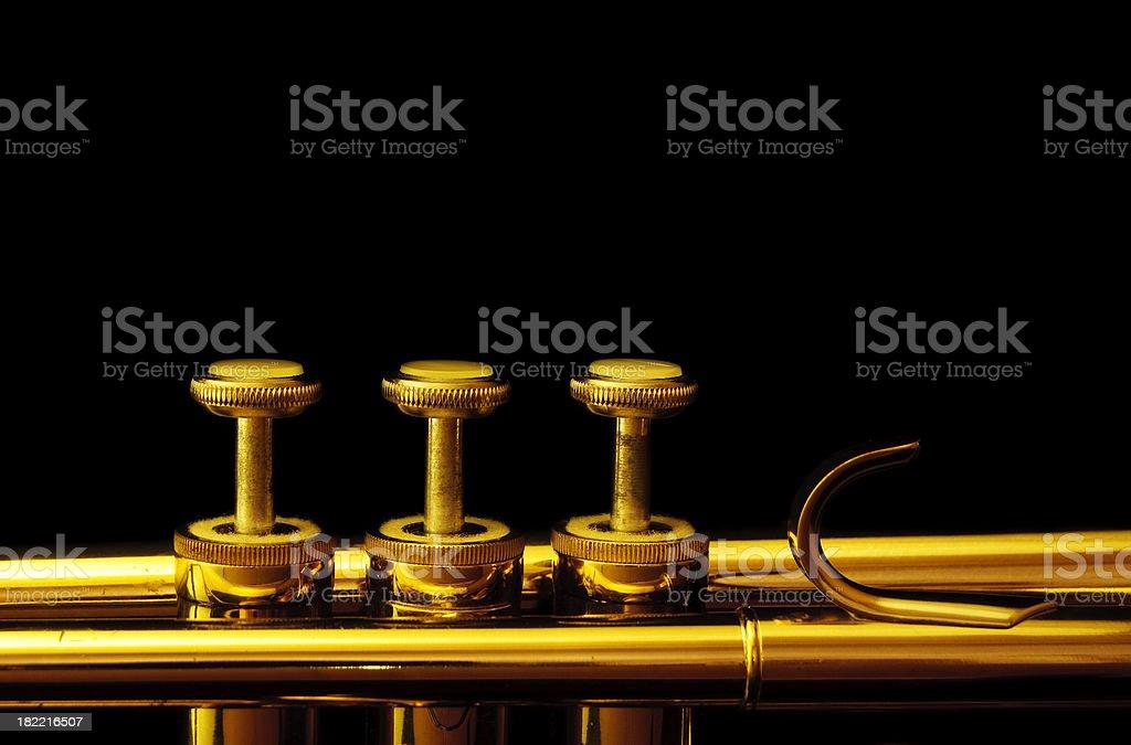 Trumpet Pistons royalty-free stock photo