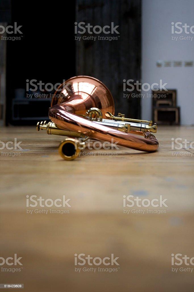 Trumpet pistons stock photo