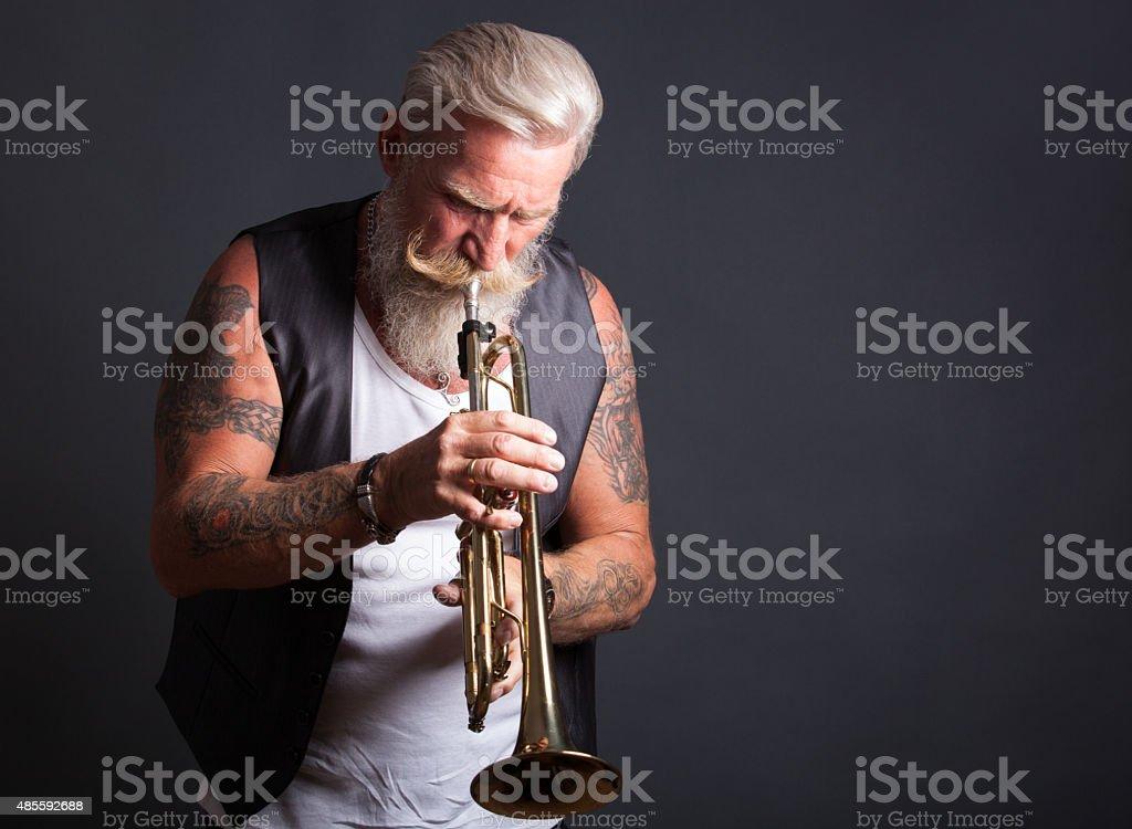 Trompete Jogador - foto de acervo