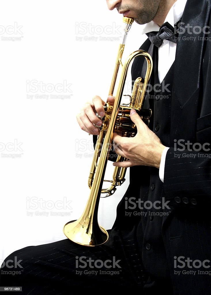 trumpet player royalty free stockfoto