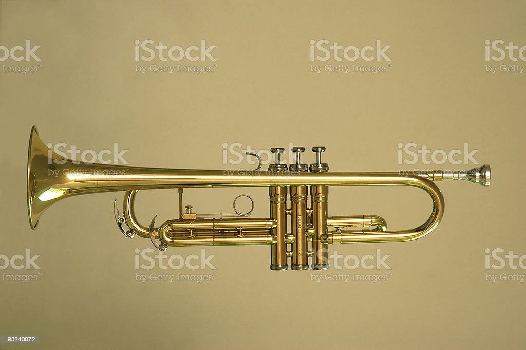 Trumpet Profile 2 royalty-free stock photo