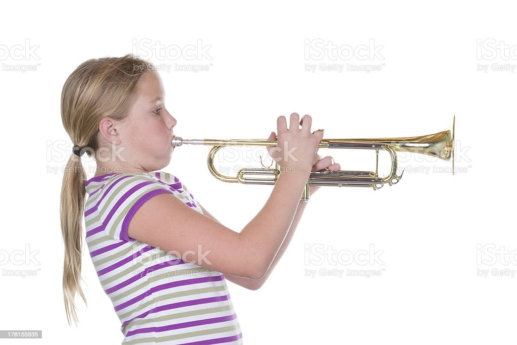 Trumpet Toot royalty-free stock photo