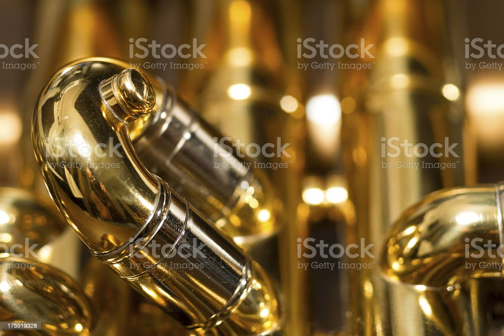 Trumpet Tubing royalty-free stock photo