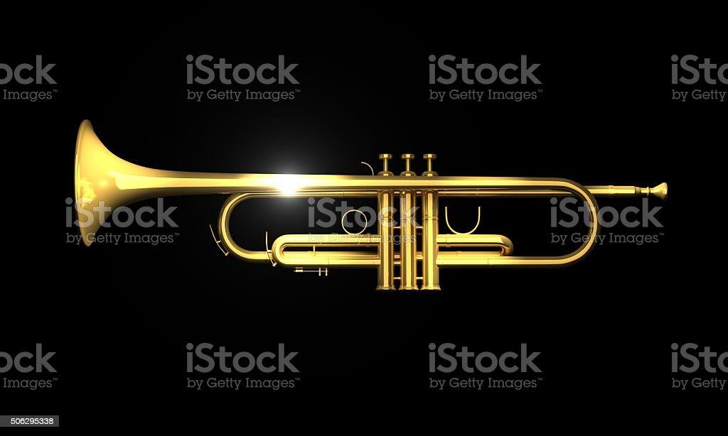 Trumpet_Side stock photo