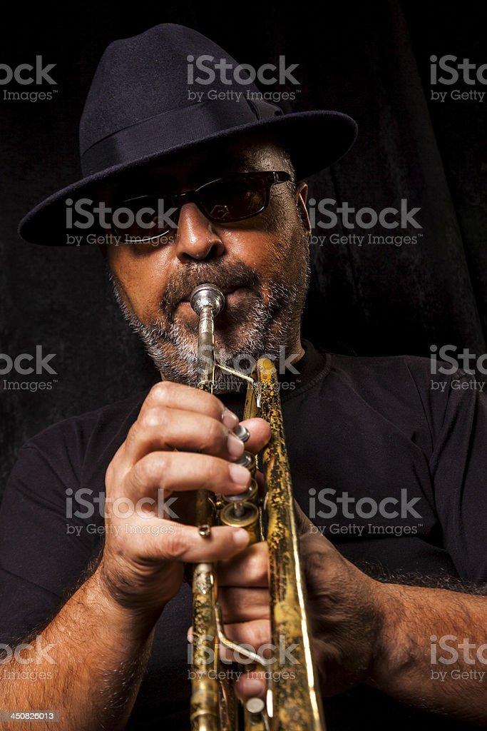 Trumpeter man royalty-free stock photo