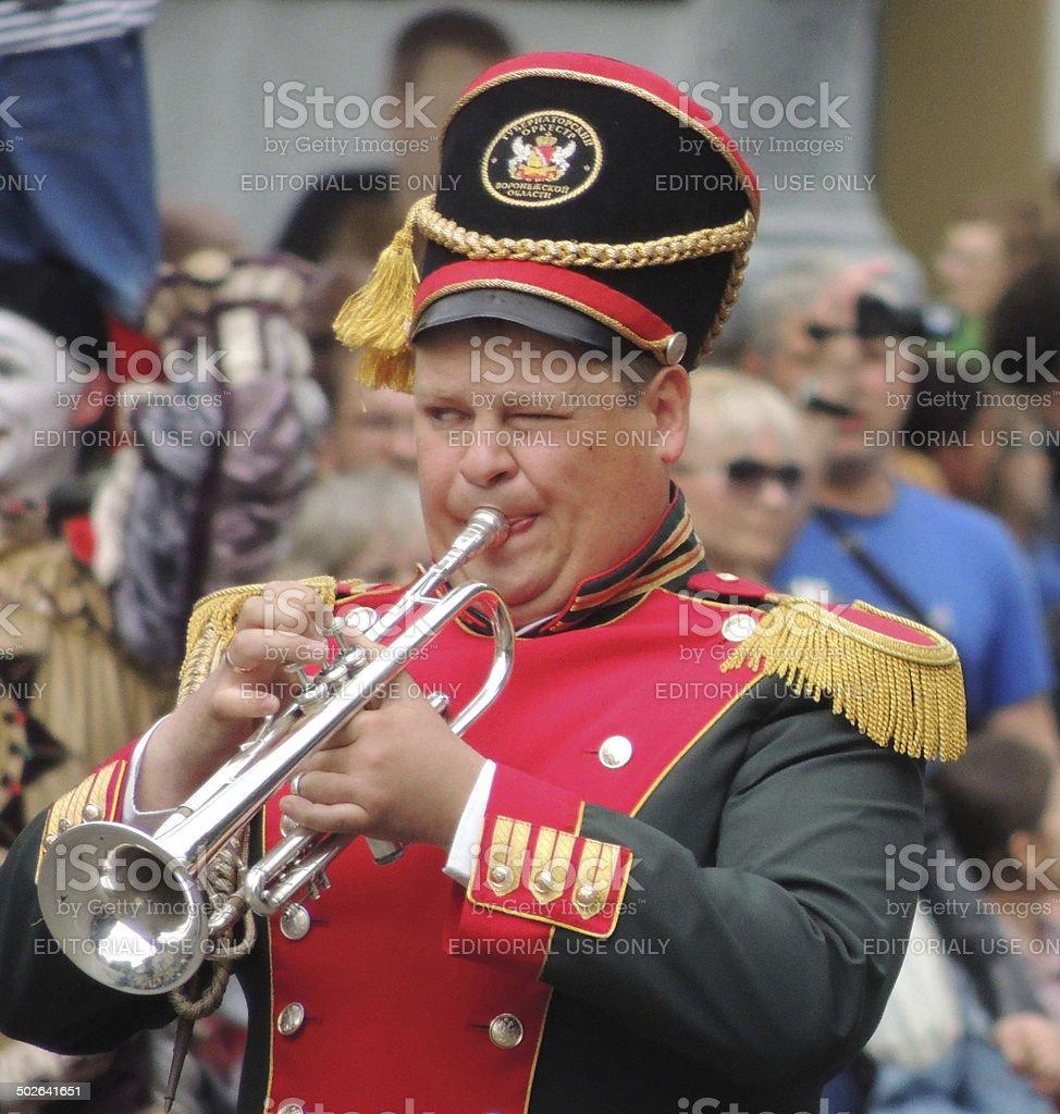 trumpeter stok fotoğrafı