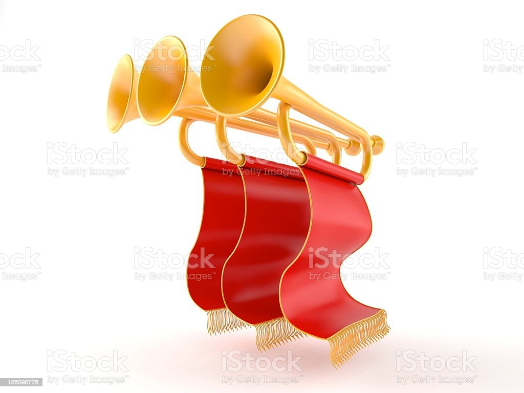 Trumpets royalty-free stock photo