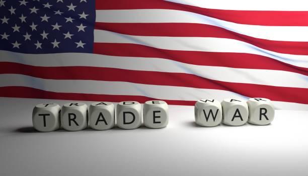 Trump's trade war stock photo