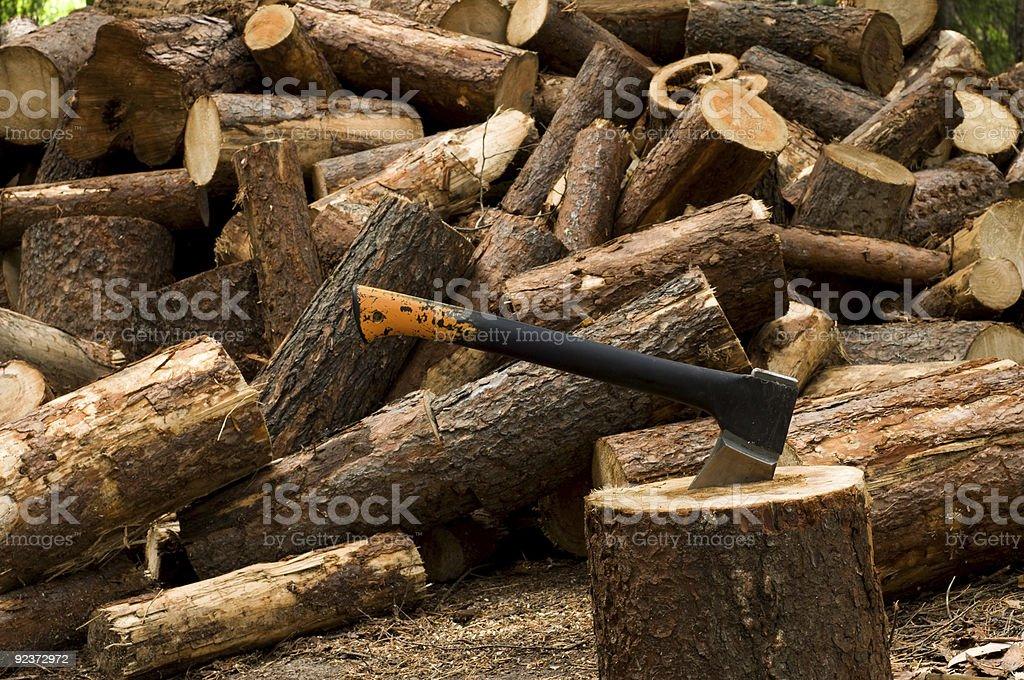 Truncate wood royalty-free stock photo