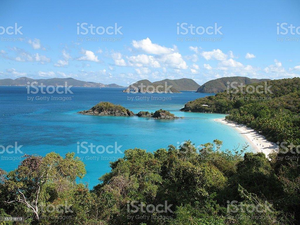 Trunk Bay, St. John royalty-free stock photo