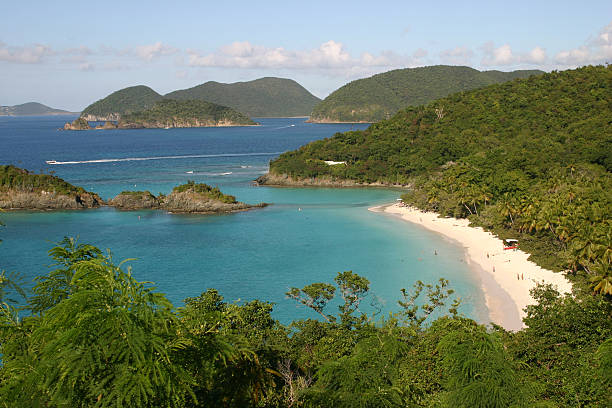 Trunk Bay St. John USVI stock photo