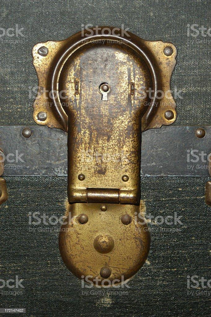 trunk latch royalty-free stock photo