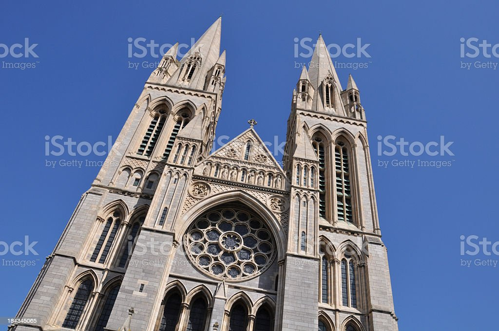 Truro Cathedral - Angle stock photo