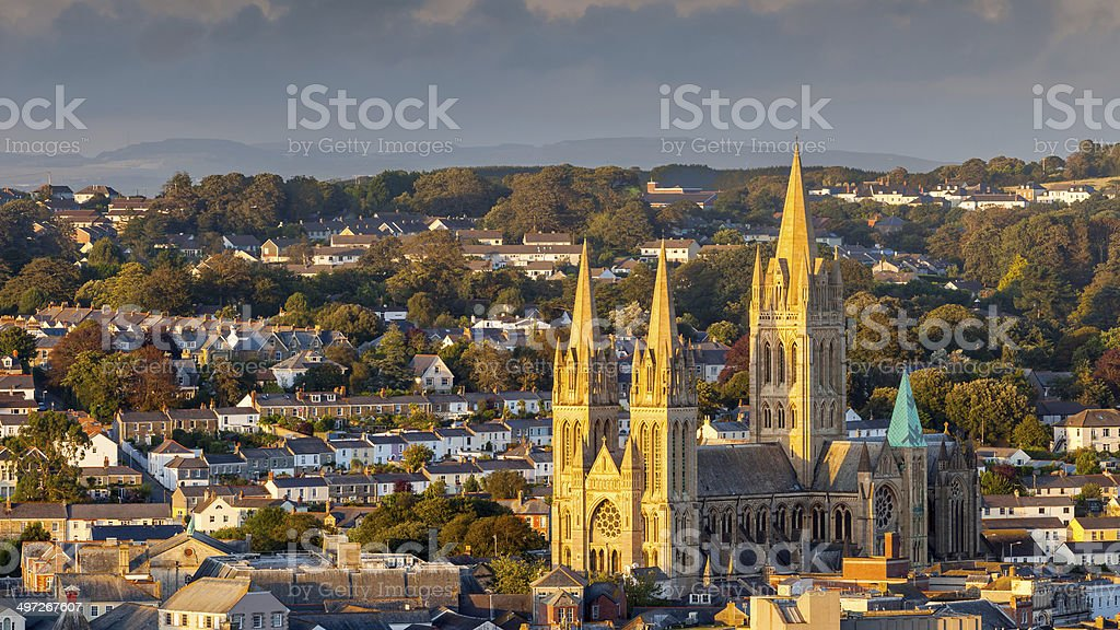 Truro Cathedral Cornwall England stock photo