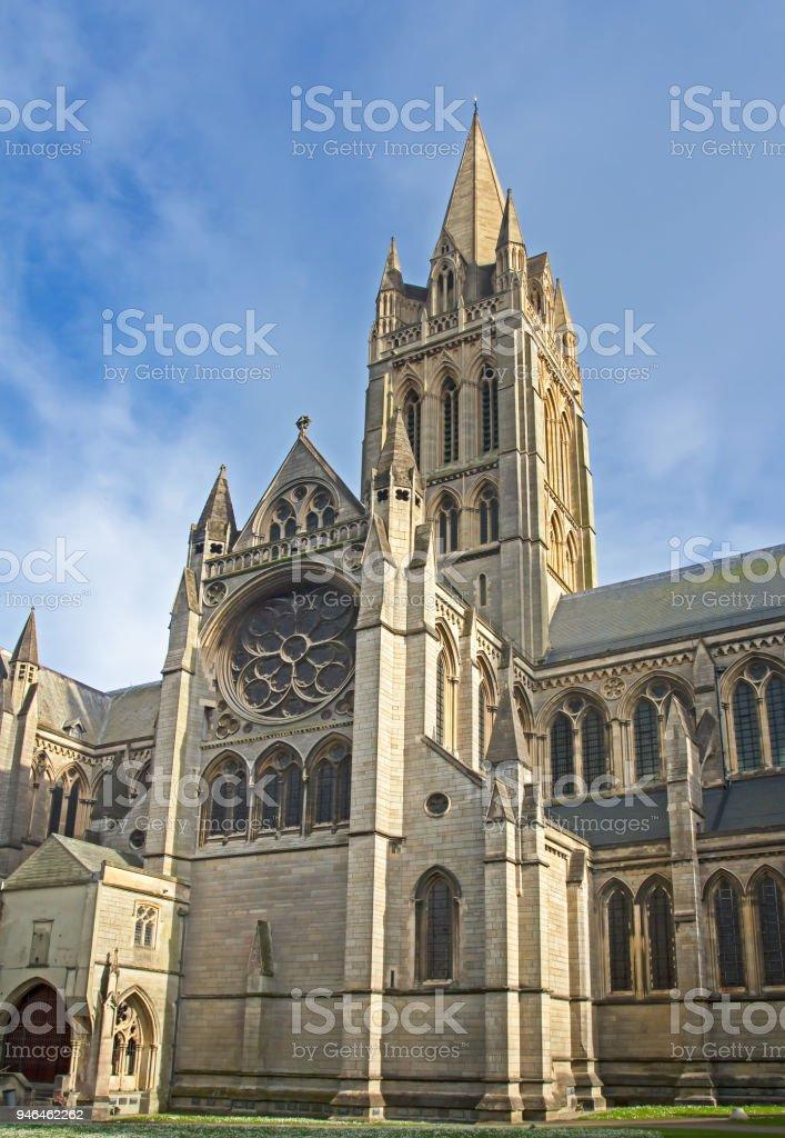 Truro cathedral edifice stock photo