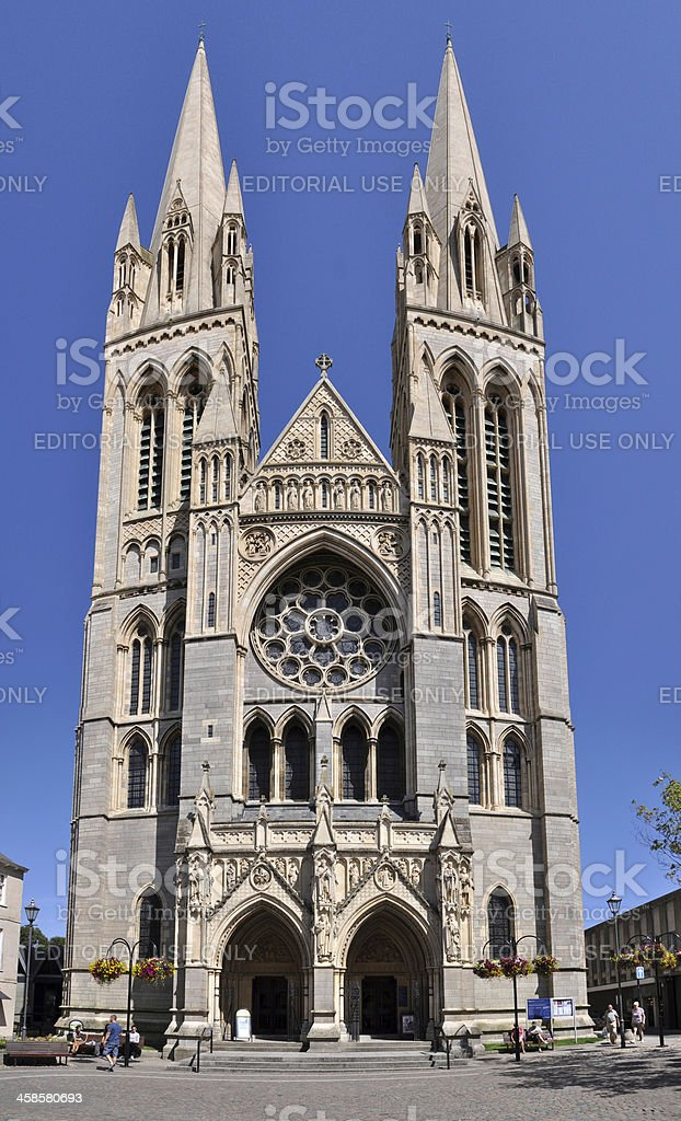 Truro Cathedral Front stock photo