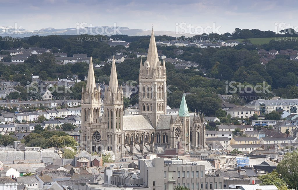Truro Cathedral stock photo