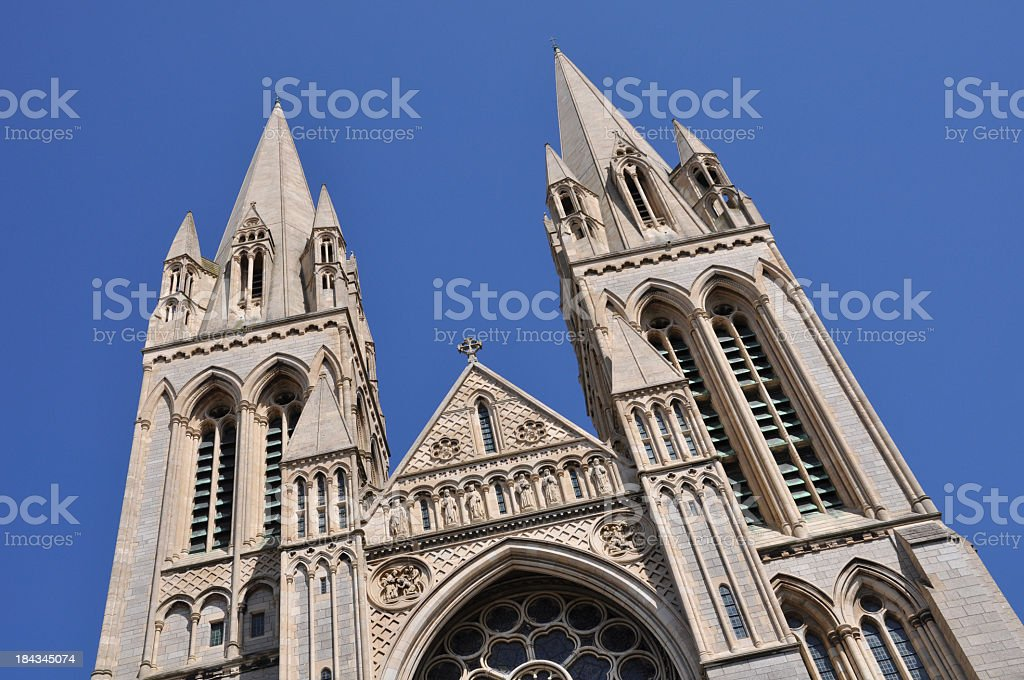 Truro Cathedral Spires stock photo