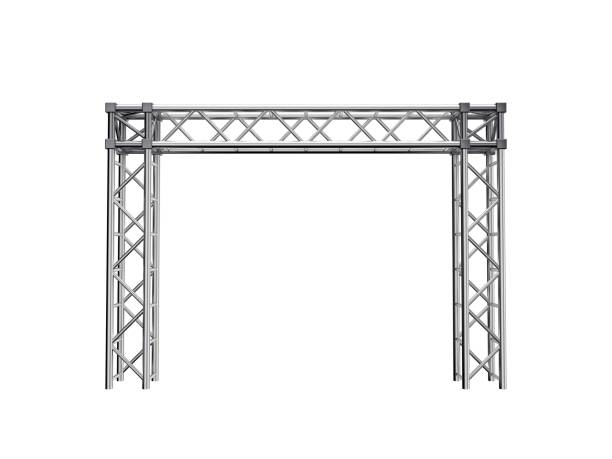 Truss construction. Isolated on white background. 3D rendering illustration. Truss construction. Isolated on white background. 3D rendering illustration. Front view. girder stock pictures, royalty-free photos & images