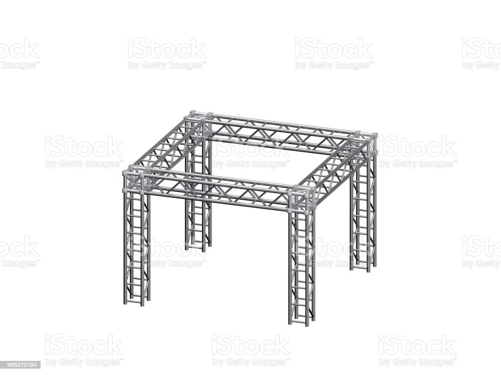 Truss construction. Isolated on white background. 3D rendering illustration. royalty-free stock photo