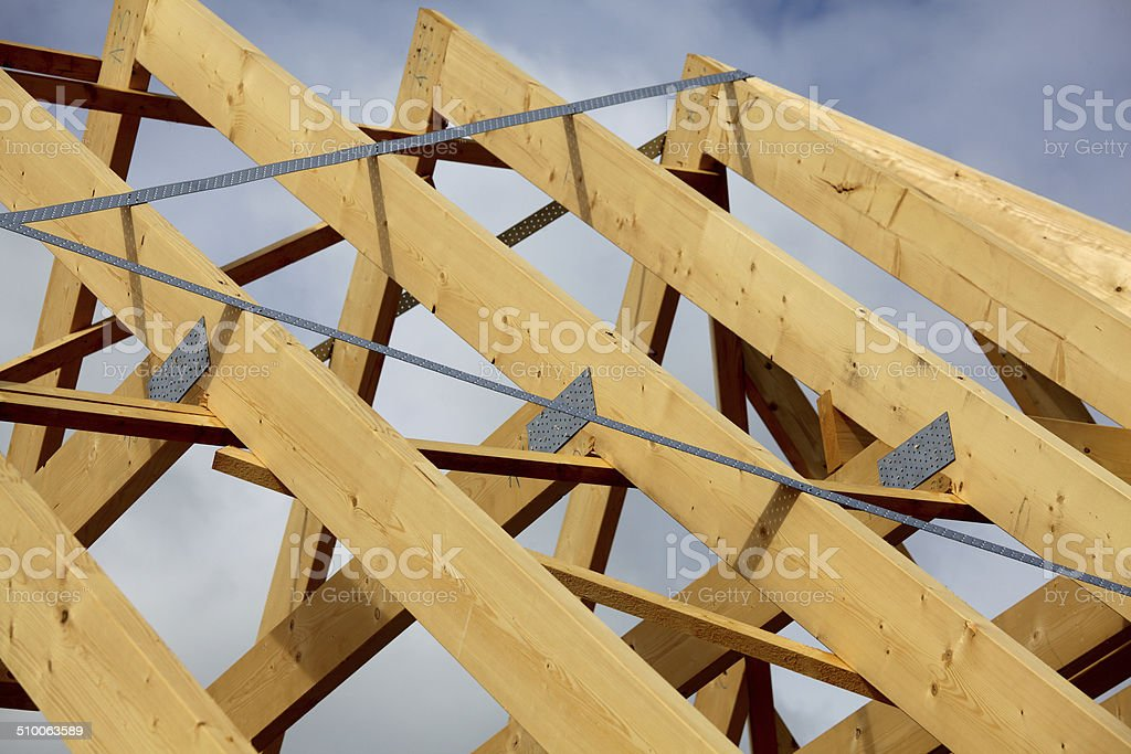 Truss framework stock photo