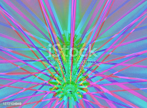 truss of an open umbrella: digital photographic effects