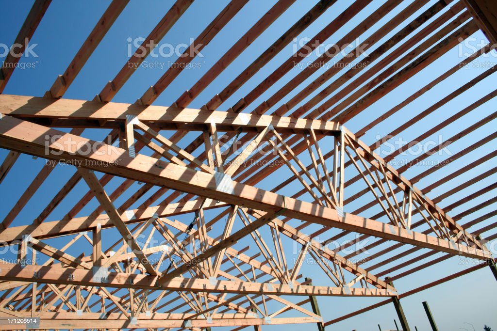 Trusses and Sky royalty-free stock photo