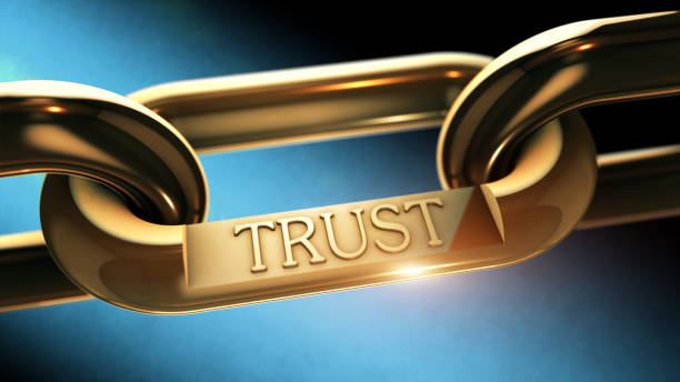 Trust chain as business concept stock photo
