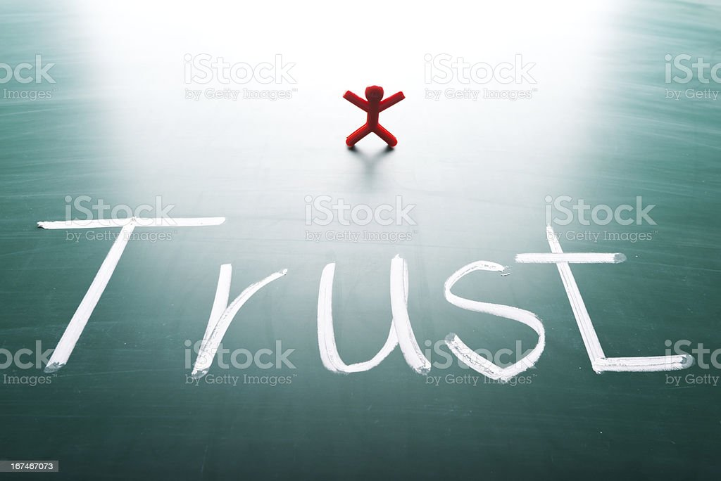 I trust concept royalty-free stock photo