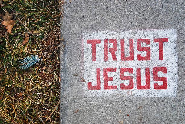 vertrauen jesus - sprüche ehrlichkeit stock-fotos und bilder