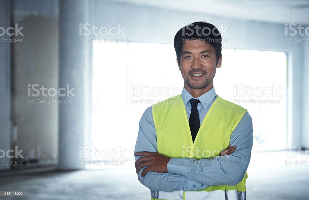 Trust me, I'm an engineer stock photo