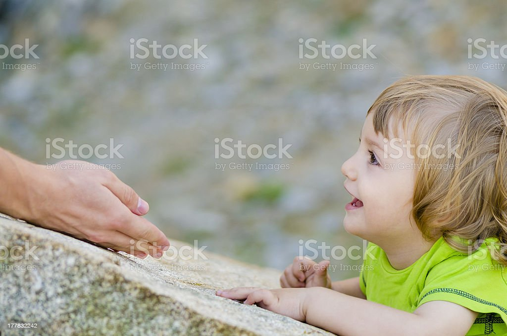 Trust of a Child royalty-free stock photo