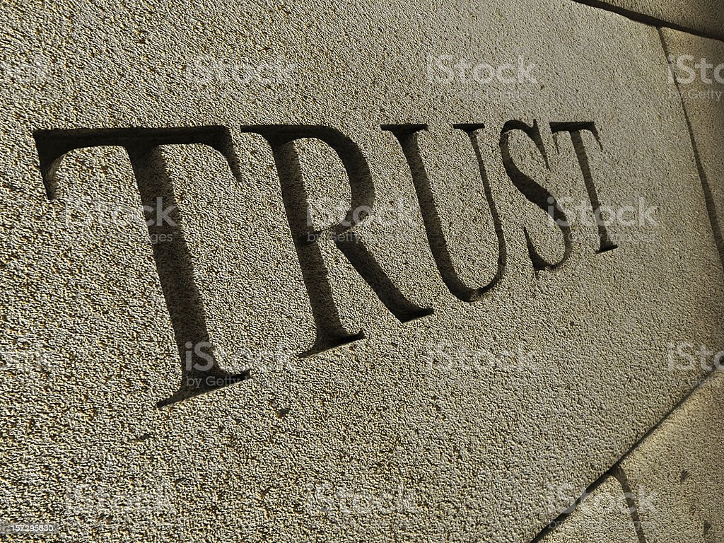 Trust royalty-free stock photo