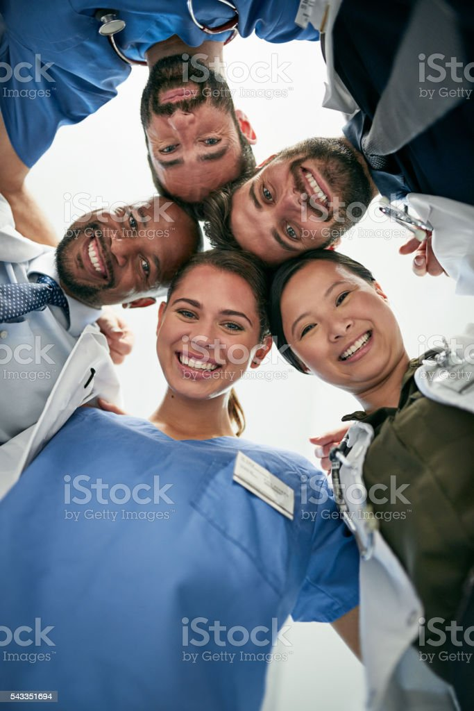 Trust us to care for your health stock photo