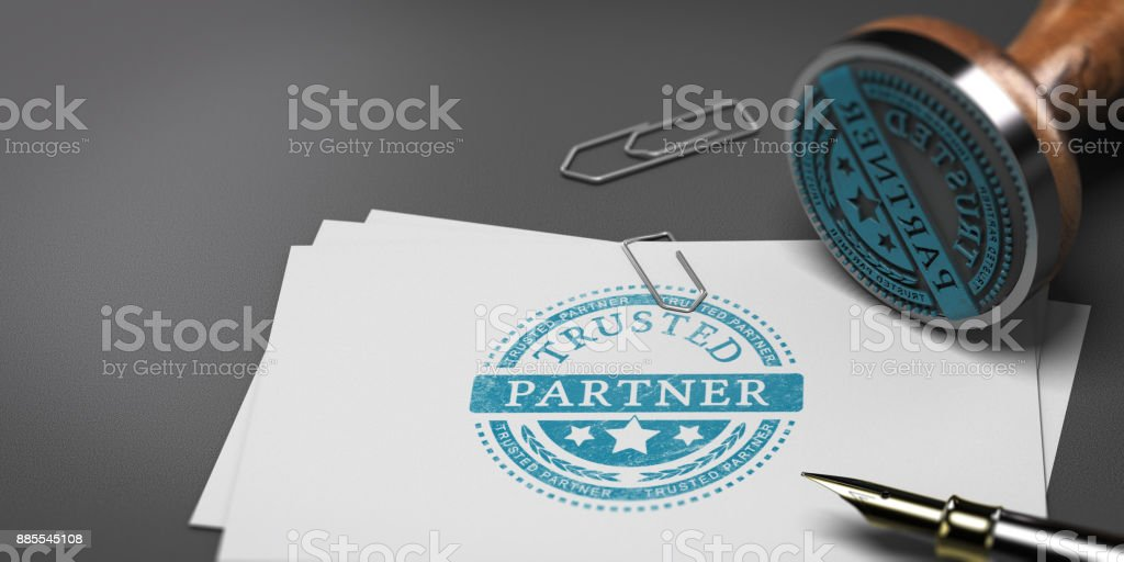 Trusted Commercial Partnership, Business Advisor stock photo