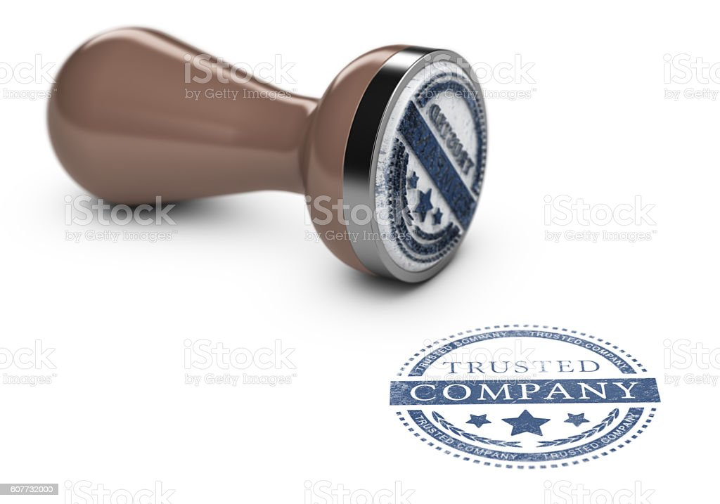 Trusted Company stock photo