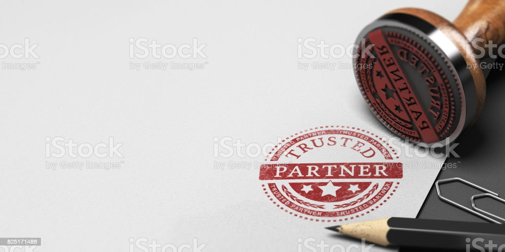 Trusted Partner, Trust in Business Partnership - foto stock
