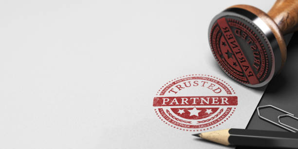 trusted partner, trust in business partnership - certificate stock photos and pictures
