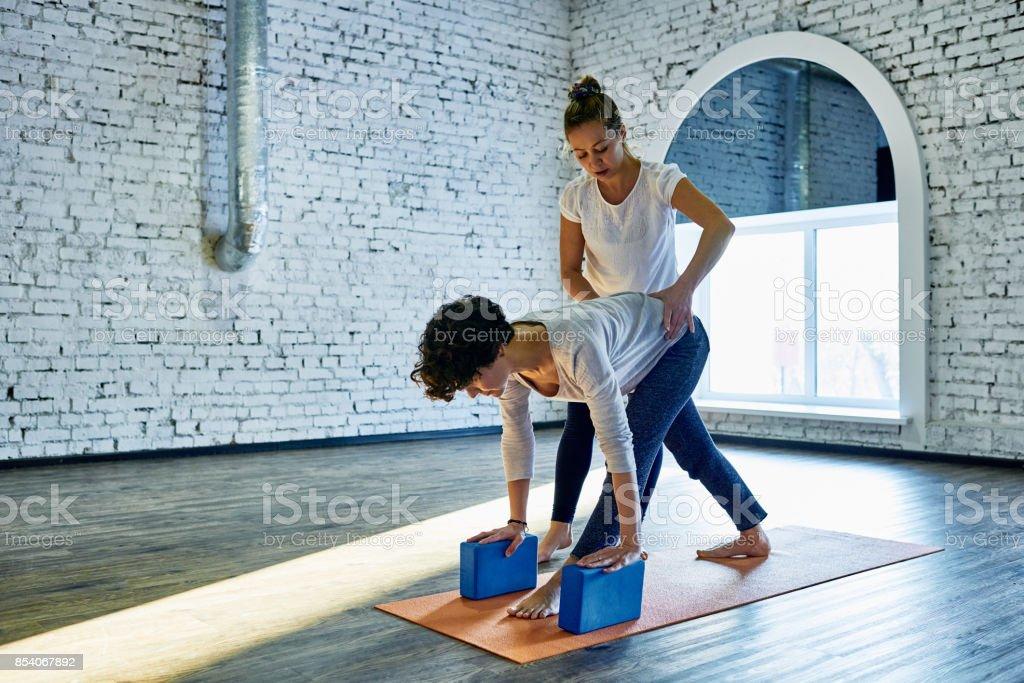 Vertrauensvolle Yoga-trainer – Foto