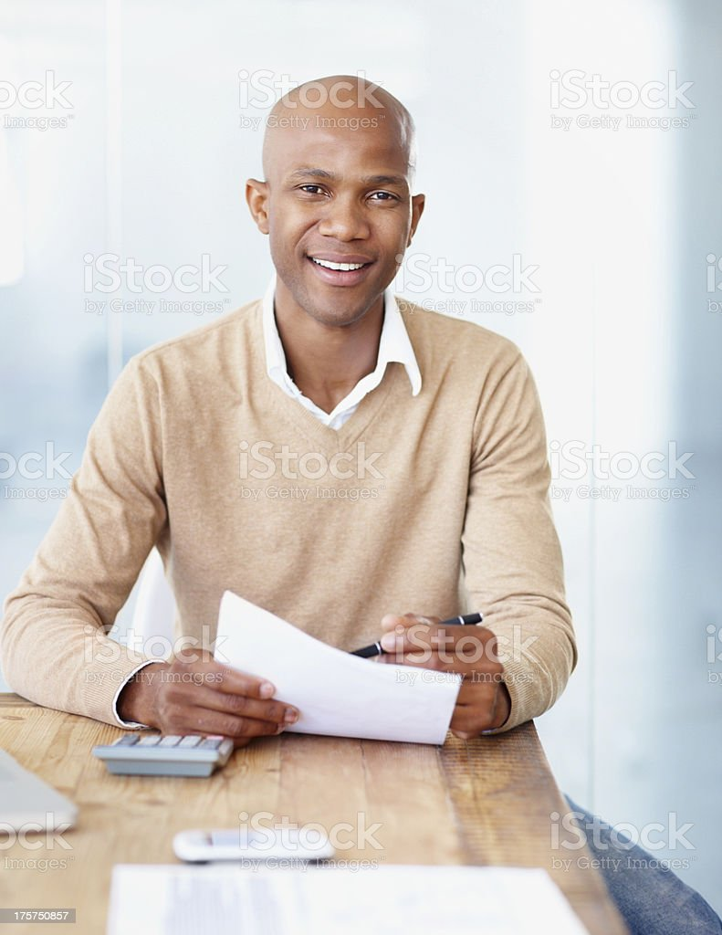 Trustworthy accountant stock photo