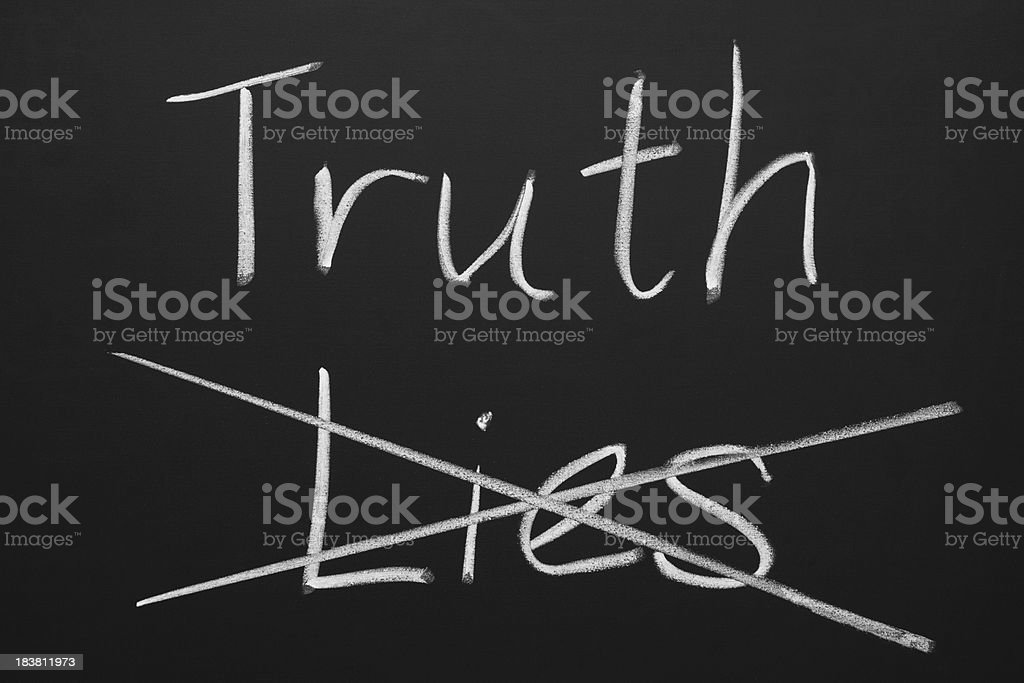 Truth and Lies royalty-free stock photo