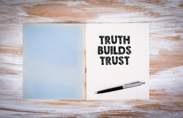 Truth builds trust stock photo