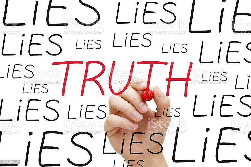 Truth Concept stock photo
