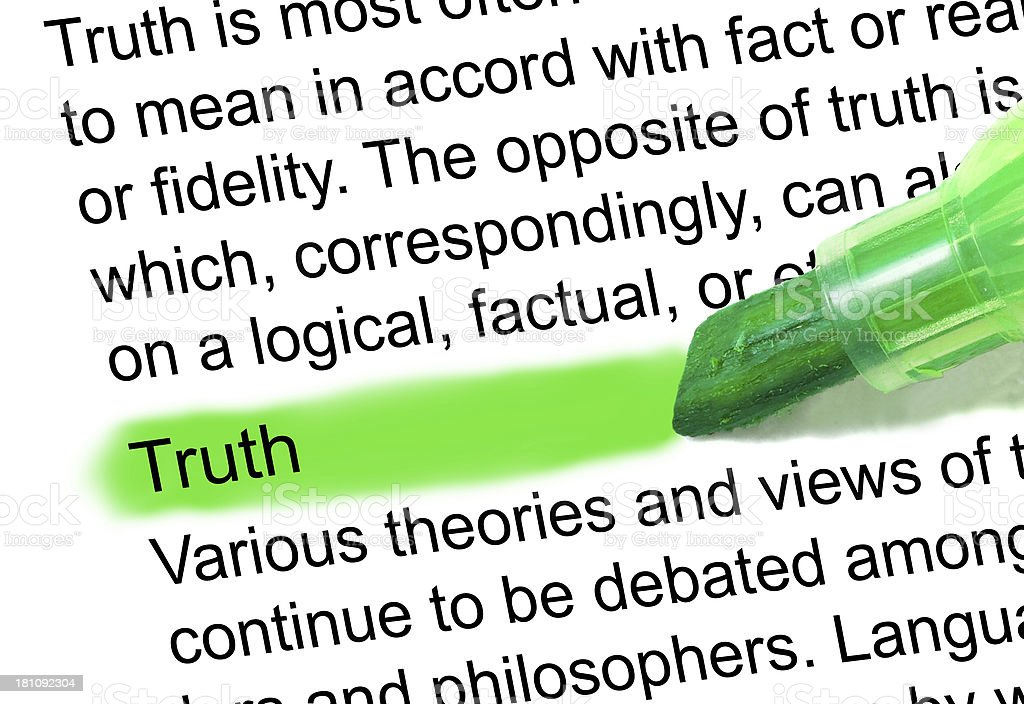 truth definition highlighted in dictionary stock photo