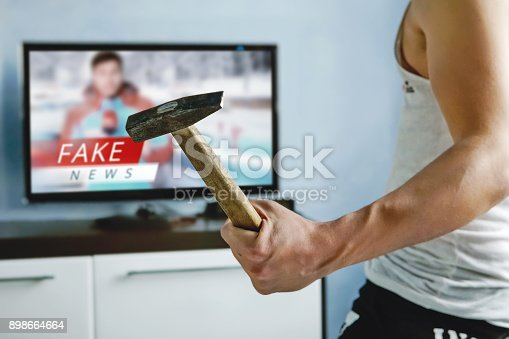 istock Truth misrepresented in the news on a modern TV 898664664