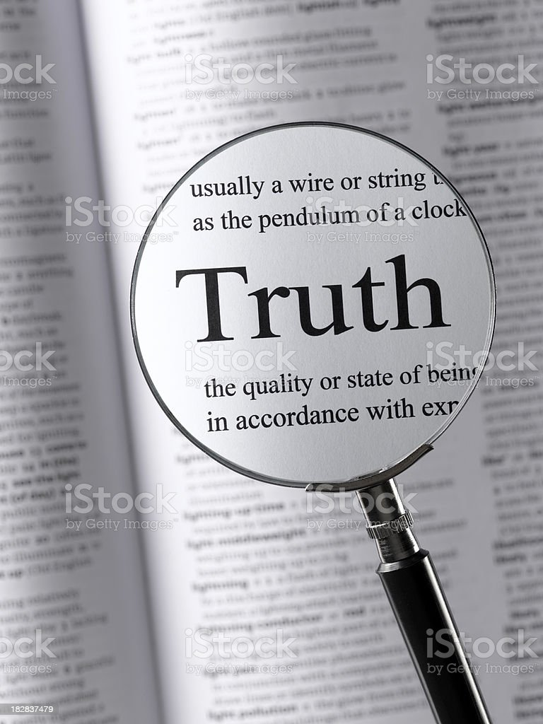 truth royalty-free stock photo