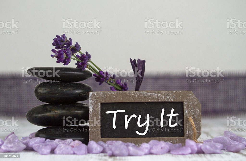 Try it stock photo