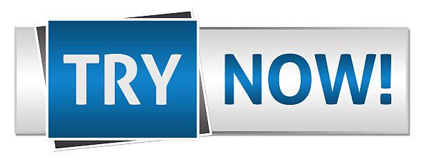 jetzt anprobieren blau grau button-stil - kostenlose webseite stock-fotos und bilder